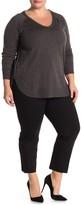 Amanda & Chelsea Hannah Ponte Tonal Check Pants (Plus Size)