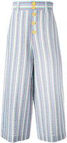 See by Chloe striped cropped trousers - women - Cotton/Spandex/Elastane - 36