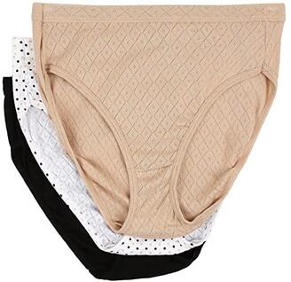 Jockey Elance Breathe French Cut 3-Pack (Light/Simple Dot/Black) Women's Underwear