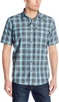 G.H. Bass Men's Short Sleeve Fancy Explorer Medium Plaid Shirt