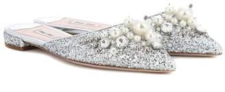 Miu Miu Exclusive to mytheresa.com embellished slippers