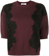 Valentino lace panel jumper - women - Cotton/Viscose/Cashmere/Virgin Wool - S