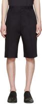 Lanvin Navy Cotton Worker Shorts