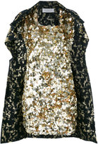 Gianluca Capannolo sequined cape dress - women - Cotton/Polyester/Acetate/Polyamide - 42