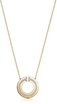 Tiffany & Co. T diamond circle pendant in 18k gold