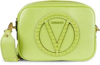 Mario Valentino Mia Rock Dollaro Pebbled-Leather Camera Bag