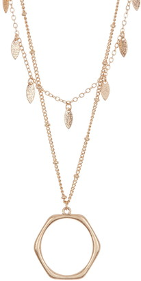 Area Stars Double Layer Open Geometric Necklace