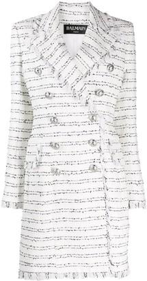 Balmain tweed double-breasted coat