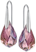Swarovski Silver-Tone Lilac Crystal Drop Earrings