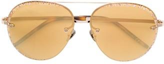Pomellato Eyewear Cabachon Embellished Aviators