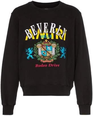 Amiri Beverly Hills logo print cotton sweater