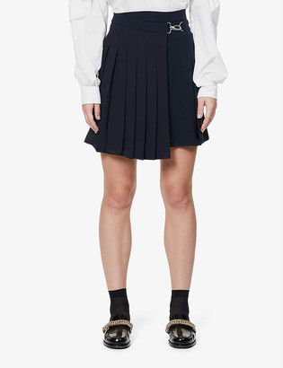 Claudie Pierlot Sicile pleated crepe mini skirt