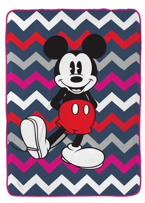 Mickey Mouse Disney Mickey Chevron Silk Touch Blanket