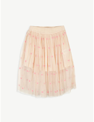 Stella McCartney Heart print tulle midi skirt 4-16 years