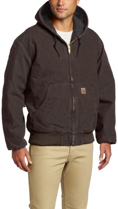 Carhartt Men's Big & Tall Quilted Flannel Lined Sandstone Active Jacket J130