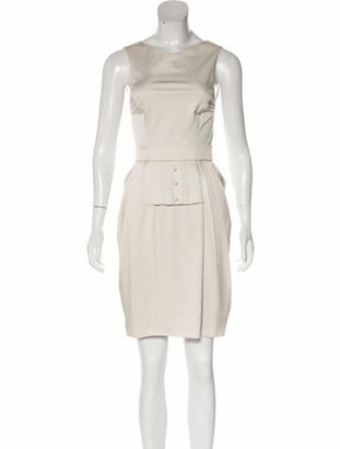 Valentino Pleated-Accented Knee-Length Dress