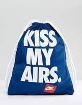 Nike Heritage Drawstring Backpack In Blue Ba5431-423