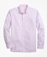 Brooks Brothers Supima® Cotton Textured Dobby Stripe