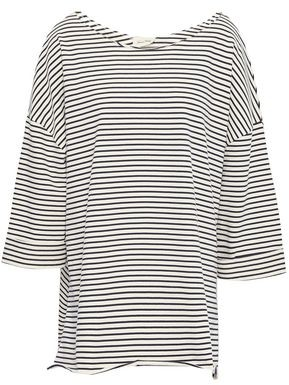 American Vintage Striped Cotton-jersey Tunic