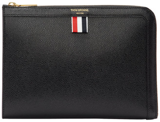 Thom Browne Black Mini Gusset Portfolio