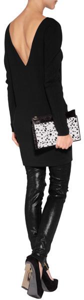 Vionnet Boat Slick Sweater Dress in Black