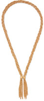 Aurelie Bidermann Miki Braided Gold-plated Necklace - one size