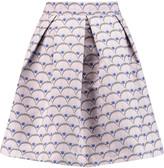 Markus Lupfer Daria pleated metallic jacquard mini skirt