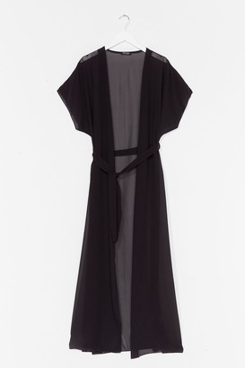 Nasty Gal Womens A Little Over the Top Maxi Cover-Up Jacket - Black