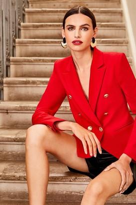 Karen Millen Tailored Button Military Blazer