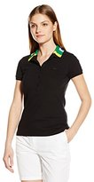 Lacoste Women's Short Sleeve Nations Stretch Pique Slim Sit Polo Shirt