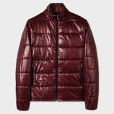 Paul Smith Men's Burgundy Shower-Proof Wadded Jacket