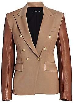 Generation Love Women's Enzo Leather Sleeve Blazer