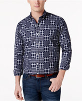 Club Room Men's Patchwork Print Shirt, Only at Macy's