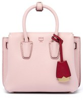 MCM 'Mini Milla' Leather Tote - Pink