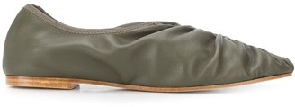 Masscob Asis ruched slip-on shoes