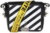 Off-White Stripes Binder Clip Leather Shoulder Bag