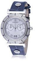Versace Unisex VA9090013 Vanity Chrono Analog Display Swiss Quartz Blue Watch