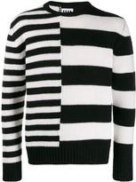 Les Hommes Urban striped knit jumper