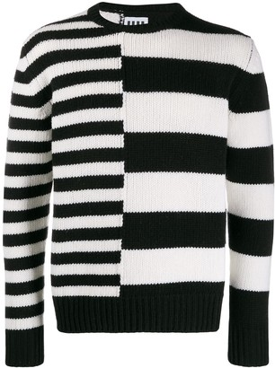 Les Hommes Urban Striped Knit Jumper