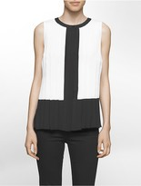 Calvin Klein Colorblock Pleated Top