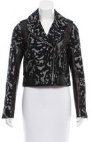 Diane von Furstenberg Leather-Accented Biker Jacket