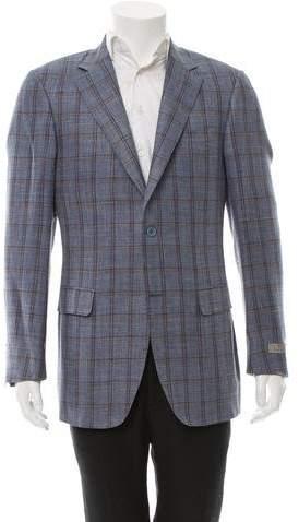 Canali Windowpane Wool-Blend Blazer