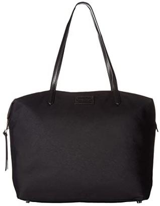 Rebecca Minkoff Washed Nylon Tote (Black) Tote Handbags