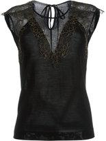Alberta Ferretti sheer panel blouse