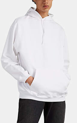 Balenciaga Men's Logo Cotton Terry Hoodie - White