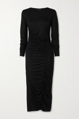 Ninety Percent Ruched Tencel Midi Dress - Black