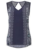 Jeanswest Lizzy print Lace Yoke Tank-Multi Deep Iris-6