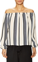 Lucca Couture Women's Striped Off Shoulder Blouse