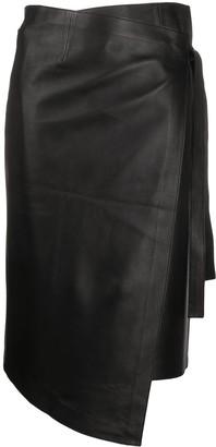 ENVELOPE1976 Asymmetric Side Tie Skirt