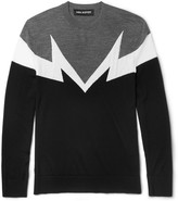 Neil Barrett Intarsia Wool Sweater